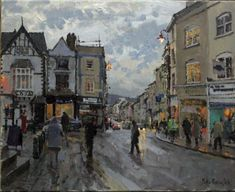 Peter Brown NEAC: Winter Agincourt Square Monmouth