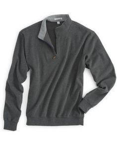 Melange Fleece Quarter-Zip Pullover