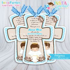Angel Baptism Invitation Handmade Angel Invitation christening