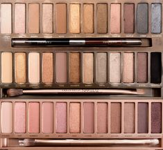 Naked, naked2, and naked 3 palettes i love them the naked 3 is pink colored based colors so im think that is sooocool love it they each r 52$ for 12 eyeshadows each and a brush!
