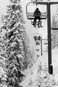 Snowy Chairlift Rides | A1 Pictures