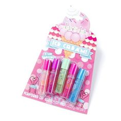 Ice Cream Flavored Lip Gloss Set of 5 | Claire's