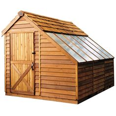 Cedarshed Sunhouse Lean-to Cedar Wood Storage Shed (common: 8-ft X 12-ft…