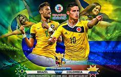 BRASILE COLOMBIA Rojadirecta Streaming Calcio Coppa America Cile 2015