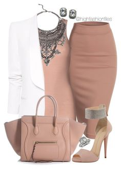 """Blushing Pink"" by highfashionfiles ❤ liked on Polyvore"