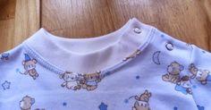 Děkuji MacíkoviP za nafocený postup.   Takto lze lemovat kojenecké body nebo dětské trička.