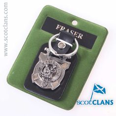 Fraser Clan Crest Keyfob. Free worldwide shipping available.