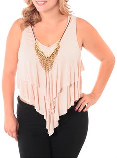 Plus Size Sweet Thing Tan Crop Top, Plus Size Clothing, Club Wear, Dresses, Tops, Sexy Trendy Plus Size Women Clothes