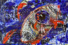 Color in your eye, schilderij van Christian van Hedel | Abstract | Modern | Kunst