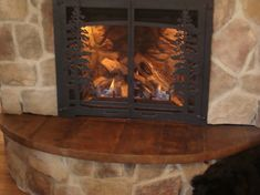 A Unique, Warm Concrete Mantel Perfect for Any Home Using Direct Colors Cola and Malayan Buff Acid Stains.