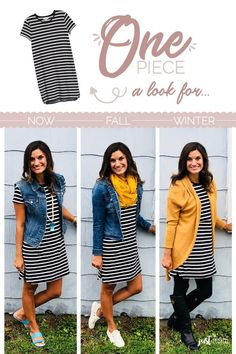 ea0476430ac 20 Best Striped dress outfit images
