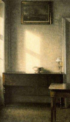 Vilhelm Hammershøi (1864 1916), Interno, olio su tela.