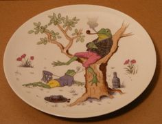 Whimsical Frog Plate Pirkenhammer Austria