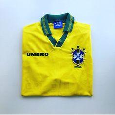 It's a classic! Brazil home shirt 94/95 - link in bio 🇧🇷 #Brazil #Brazil shirt #brazilianfootball #brasil #usa94 #worldcup #football #footballshirt #umbro #retro #retroshirt #retroumbro #retrofootball #retrofootballshirt #vintage #vintageumbro #vintagefootball #vintagefootballshirt #soccer #soccerjersey #oldschool #90s #90svintage #90sfootball #90ssportswear