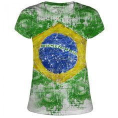 Juniors Basic Flag #Art #Design #Donuts #Fashion #Tees #Flag #Brazil #PeoplesChoiceApparel
