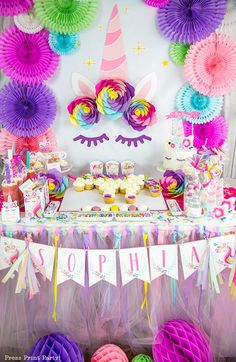 Truly Magical Unicorn Birthday Party Decorations (DIY) - Press Print Party!