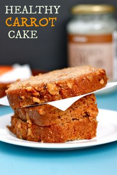 Healthy Carrot Cake- A lightened up classic from my mother's kitchen to yours- perfectly healthy to consider for breakfast any day of the week! #glutenfree and #sugarfree- thebigmansworld.com