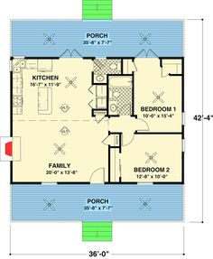 Rocking Chair Retreat - 20037GA | 1st Floor Master Suite, CAD Available, Cottage, Country, Net Zero Ready, PDF | Architectural Designs
