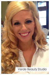 verde beauty studio blog - glamourous blonde bride with long curls, victoria secret hair