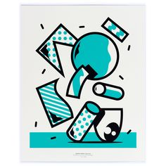 PERFEKT PRINTS- Edition No2, Mr. Penfold(UK)- Cool Like Ice, Hot Like Pepper, 2014, 2C Screenprint on Munken Pure Paper (300g/m2),40*50cm Edition of 24 Mr. Penfold is an graffiti and mural artist from Bristol, UK. His work is dominated by bold precise lines combined with pure color, perfectly fitting for screen printing. He has been working with comic aesthetics for years, which he has started to abstract to a landscape of non figurative graphic  elements and patterns floating in ...