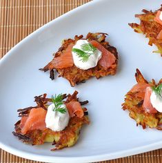Latkes & Lox....OMG! how have I never thought of this! It has to be way better than a bagel with lox!!