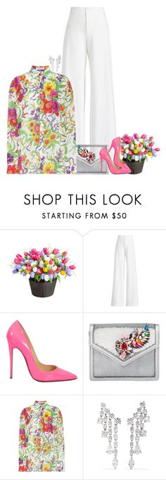 """""""At the Spring wedding. ♡"""" by rashana-forte ❤ liked on Polyvore featuring Improvements, Ralph Lauren Collection, Christian Louboutin, Shourouk, Balenciaga and Anita Ko"""