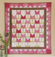 It's Tulip Time quilt pattern by Nancy Rink at Nancy Rink Designs