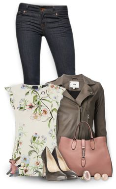 Casual motto jacket spring outfit polyvore                                                                                                                                                      More
