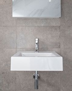 Here is a sink... just because!  #sink #bathroom #tile #chrome #mirror #detail #features #tap #design #renovation