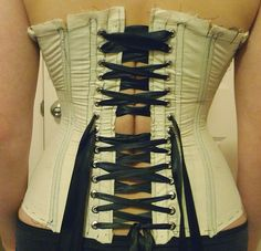 make a custom corset pattern using duct tape - tutorial