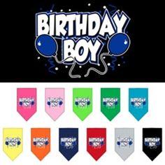 Birthday Boy Screen Print Bandana for dogs, Dog Birthday Apparel, Dog Birthday Gifts
