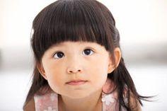 Closeup sweet  little girl face