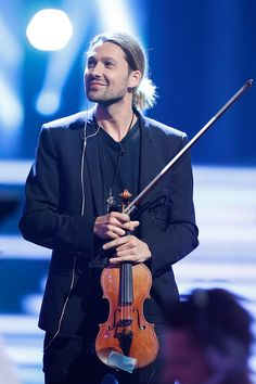 German violinist David Garrett during the tv show 'Willkommen bei Carmen Nebel' at Velodrom on October 1 2016 in Berlin Germany