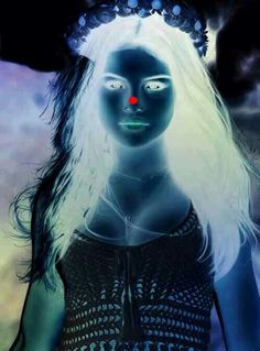 Stare at the red dot for 30 sec than look up at the ceiling and blink rapidly