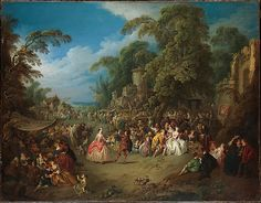 The Fair at Bezons  Jean Baptiste Joseph Pater (French, Valenciennes 1695–1736 Paris)  Date: ca. 1730