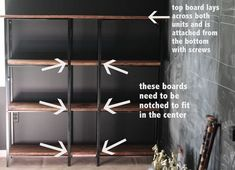 Newest Totally Free Ikea Hack Rustic-Industrial Bookcase - Shine Your Light Tho. Newest Totally Free Ikea Hack Rustic-Industrial Bookcase – Shine Your Light Thoughts Investing Ikea Billy Bookcase Hack, Ikea Shelves, Bookshelves Built In, Ikea Shelf Hack, Ikea Industrial, Industrial Furniture, Industrial Shelves, Furniture Vintage, Vintage Industrial