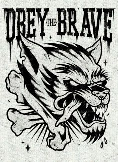 Obey the Brave wolf...thing. Putting on right bicep.