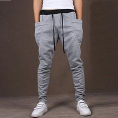 Men's Big Pocket Hip Hop Harem Pants