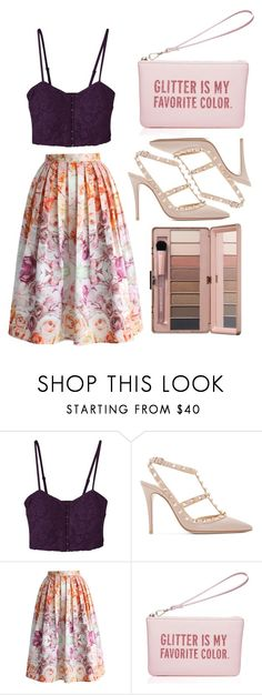 """""""Untitled #4862"""" by prettyorchid22 ❤ liked on Polyvore featuring Valentino, Chicwish and Kate Spade"""