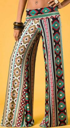 Lovely indian tribal print palazzo pants