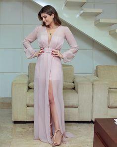 {Hot pants @caroldiasbrand } Vestido rosê, fluido com fendas duplas!!