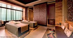 There's no better way to relax than spend quality time in a luxurious spa. Today Asian Interior Design show you some of the 10 best luxury spas in Singapor Spa Luxe, Luxury Spa, Spa Treatment Room, Spa Treatments, Restaurant Design, Deco Spa, Massage Room Design, Couples Spa, Asian Interior Design