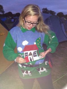 Me and my house jumper! It has a door flap with a cat behind! #bestjumper #bumbag