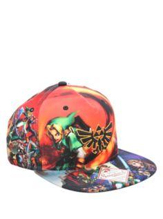 The Legend Of Zelda Allover Snapback Hat d0ee2f719d33