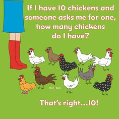 Funny Chicken Memes, Funny Chicken Pictures, Chicken Jokes, Funny Memes, Math Humor, Hens And Chicks, Raising Chickens, Chickens Backyard, Pets