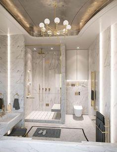 Bathroom Design Luxury, Luxury Interior Design, Luxury Hotel Bathroom, Modern Luxury Bathroom, Modern Bathrooms, Minimalist Bathroom, Interior Architecture, Neoclassical Interior Design, Palace Interior