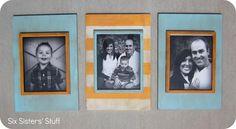 DIY Picture Frames DIY Stacked Frames DIY Picture Frames