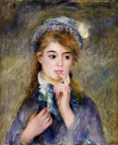 The Ingenue 1877 | Pierre Auguste Renoir | Oil Painting