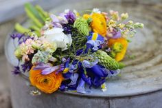 Arrangement made with my dear friend Taj who both started out hardly knowing what we were doing. #flowers