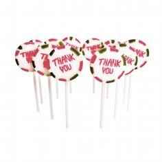 """Süßer Lolly """"Thank you"""" zur Hochzeit - Perfekt als Gastgeschenk oder für die Candy Bar - Jetzt nachsehen bei weddix.de"""